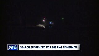 Search suspended for missing fisherman