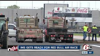 Indianapolis Motor Speedway prepares to become air race track - Video