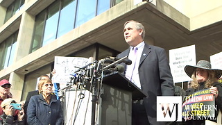 Jeff Merkley rallies against Mulvaney