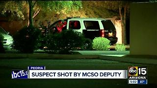 MCSO deputy involved in shooting in Peoria, suspect shot - Video
