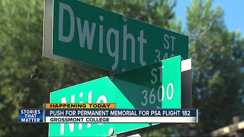 Push on for permanent memorial for PSA Flight 182