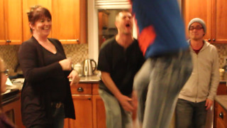 Accidental Groin Hit Ruins Family Dance Party - Video