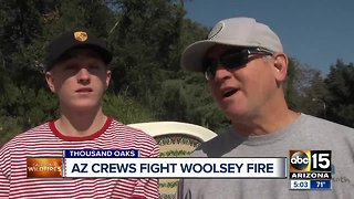 Arizona crews helping fight the Woolsey Fire in California