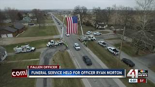 Clinton community says goodbye to Officer Morton