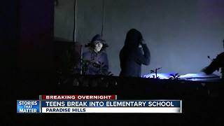 San Diego police arrest 3 teens suspected of breaking into Paradise Hills Elementary School - Video