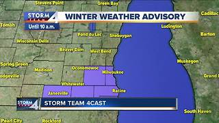 Winter Weather Advisory in effect until 10 a.m.