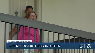 Surprise 91st birthday in Jupiter