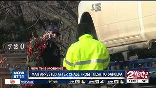 Man arrested after chase from Tulsa to Sapulpa - Video