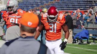 Oklahoma LB Ogbonnia Okoronkwo at the Senior Bowl