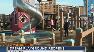 Dream Playground in Kenosha officially reopens - Video