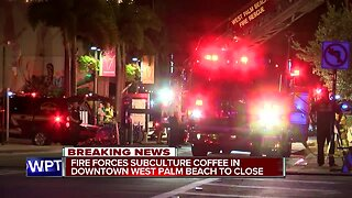 Fire damages Subculture Coffee shop in downtown West Palm Beach
