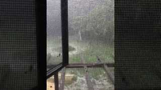 Hail Storm Strikes East Peoria, Illinois - Video