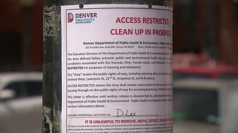 Area near Denver Rescue Mission restricted because of public health concerns; cleanup underway