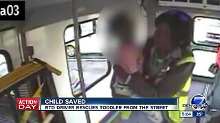 RTD driver rescues toddler from middle of Parker Street