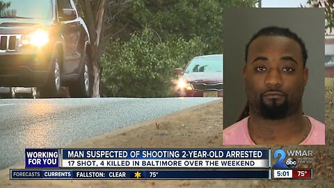 Man suspected of shooting 2-year-old arrested