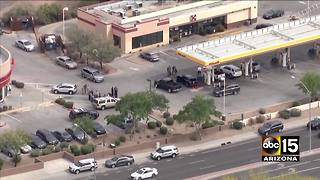 Mesa police involved in shooting with man outside of gas station - Video