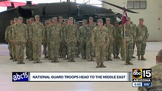 Arizona National Guard troops deploy to the Middle East