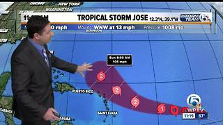 Tropical Storm Jose forms in the Atlantic - Video
