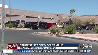 Student stabbed at White Thurman Middle School in Las Vegas - Video