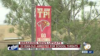 21-year-old arrested for school threats - Video