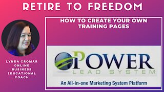 How To Create Your Own Training Pages