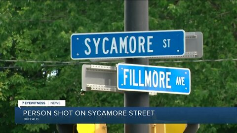 The man was shot on the 900 block of Sycamore Street just before 2 p.m.