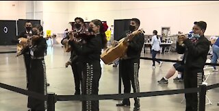 Vaccines and Mariachis at a COVID-19 center in Las Vegas