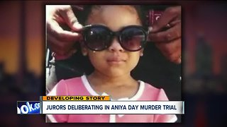 Jury finishes deliberations for the day in trial of mother, boyfriend accused of killing 4-year-old Aniya Day-Garrett