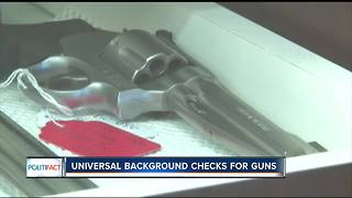 PolitiFact Wisconsin: Universal background checks for guns - Video