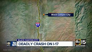 Deadly crash reported in Black Canyon City