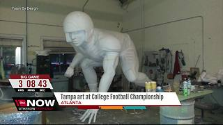 Tampa artist showcasing commissioned work at National Championship game in Atlanta - Video