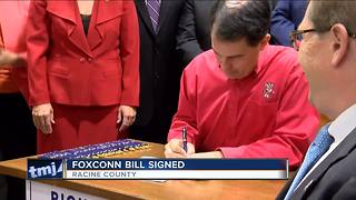 WI governor signs Foxconn incentive package - Video