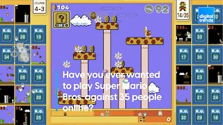 Have you ever wanted to play Super Mario Bros. against 35 people online?