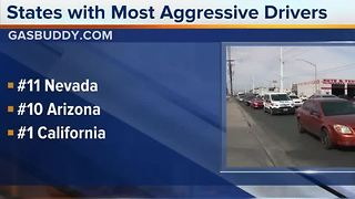 Study finds Nevada among states with most aggressive drivers