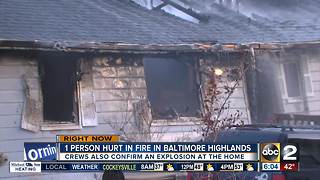 One injured after house explodes in Baltimore Highlands - Video