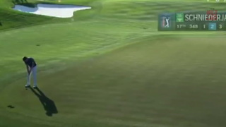 PGA Tour Golfer Accidentally Putts A Ball Off The Green Into The Water - Video