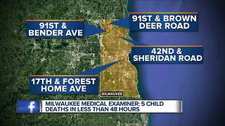 5 child deaths reported in less than 48 hours in Milwaukee - Video