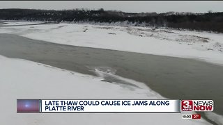 Ice jams possible along Platte River