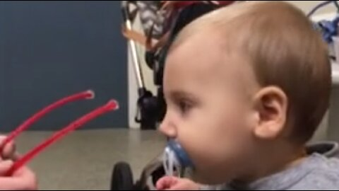 Moment Toddler Gets To See For The First Time