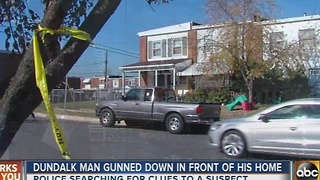 Dundalk man gunned down outside his home. - Video