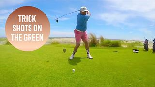 The trick shot golfer of Instagram - Video