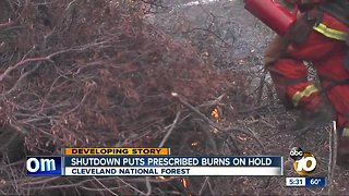 Shutdown puts prescribed burns on hold