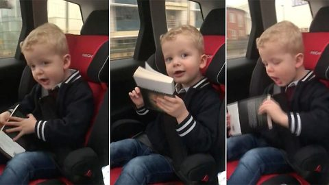 Hilarious footage shows moment tot turns air blue repeatedly shouting f***er