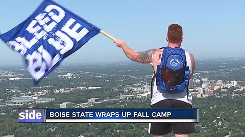 Boise State Broncos culminate the end of fall camp by climbing Table Rock
