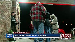 Memorial missing that remembers gas station clerk killed in 2011 - Video