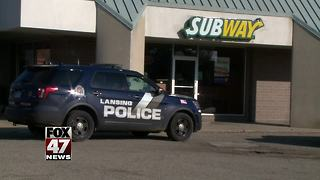 Subway restaurant robbed in Lansing this morning - Video
