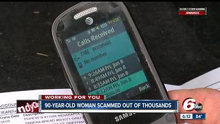90-year-old woman loses thousands of dollars in lottery phone scam