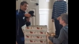 Three brothers receive the Christmas surprise of a lifetime! - Video