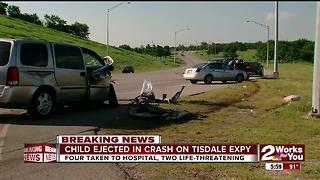 Child ejected in Tisdale Expy crash - Video