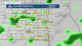 Showers continue into Tuesday afternoon and evening